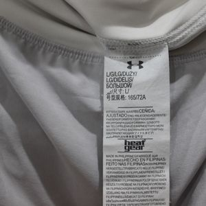 Under Armour Shorts - Under Armour gray and white Heat Gear short